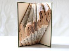 Wohndekoration - DANKE - gefaltetes Buch - ein Designerstück von KlausUndSo bei DaWanda