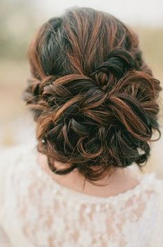 Hate it when you have those days when your curls don't want to behave? Don't fuss. Bobby pins are your new best friend. Twist your messy curls into a sexy, romantic updo. curls. messy. twists. good times.
