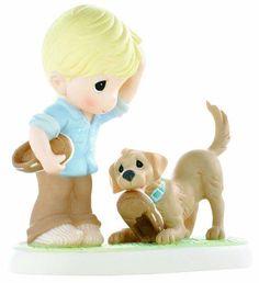 "Precious Moments figurines | Precious Moments ""Sole Mates"" Figurine | Pet Collectibles"
