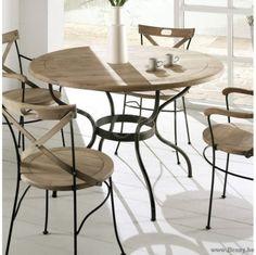 "PR Interiors Ronde Provence Tafel Ø120 metalen onderstel en weathered oak-eik Top-blad<span style=""font-size: 0.01pt;""> PR-Rogiers-Home-Interiors-CHR/040/03 tafel-rond-eettafel-rond-table-ronde-tables-rondes-ronde-eettafel-ronde-eet </span>"