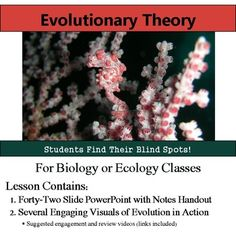 Evolution - Evolutionary Theory PowerPoint and Notes HandoutInterested in an entire Evolution unit?  Save money and check out this lesson bundled with six more plus an assessment here: Evolution Bundle==========================================================Want a FULL YEAR of biology lessons, labs and activities?