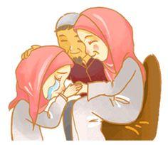 Annisa Hijab Girl : Ramadhan Edition by D-Day Anime Muslim, Hijab Cartoon, Islamic Paintings, Learn Islam, Art Pictures, Art Pics, Freelance Graphic Design, Line Sticker, Eid Mubarak