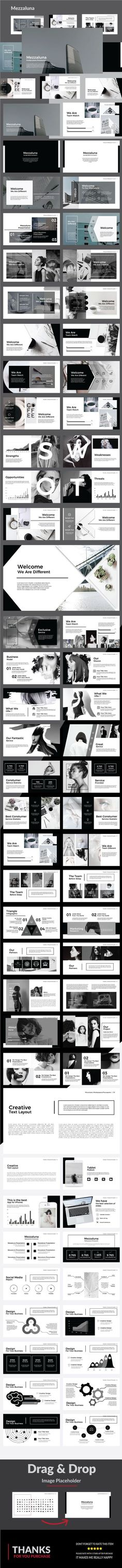 Buy Mezzaluna - Keynote Template by Sina_Studio on GraphicRiver. Images Placeholder Drag and Drop Image Theme Colour Option, Easy to change colors, Fully editable text, photos, musi. Ppt Design, Slide Design, Brochure Design, Layout Design, Graphic Design, Keynote Design, Book Presentation, Presentation Templates, Magazine Design Inspiration