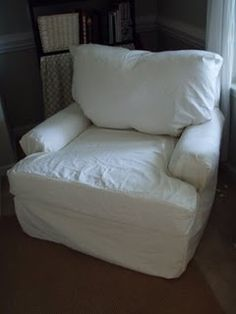 My couches need slipcovers in a bad way, and this is by far the easiest slipcover tutorial I've ever come across.  New look for the living room!