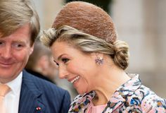King Willem-Alexander and Queen Maxima of The Netherlands attend an strategic business dialogue at Les Docks in Paris, France, 11 March 2016.
