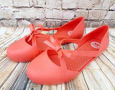 b6b70aed22 NIB Zaxy Honey Coral Bow Ballet Flats Vegan Shoes Grendene Melissa All Sizes