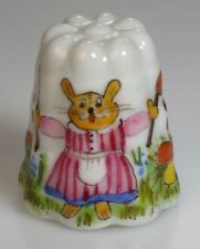 thimble porcelain easter 2006 handpainted bunny Lindner Germany new