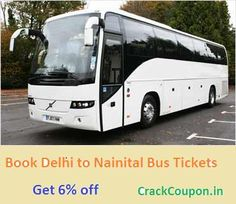 Get 6% off on #Delhi to #Nainital #BusTicket Booking with #RunBus