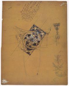 Studies for comb and choker plaque - Circle of Bats c. 1900 René Lalique