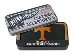NCAA Tennessee Volunteers Embroidered Checkbook by Rico. $16.35. Team logo embroidered with quality stitching. Genuine cowhide black leather. Genuine leather checkbook embroidered with team logo. ID window and credit card pockets. You can pay the bills while showing allegiance to your favorite school with this NCAA® leather checkbook cover from Rico. It is officially licensed and designed with the full-color school emblem embroidered on the front.. Save 35% Off!