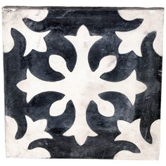Portuguese Medallion Tile in White Handmade tiles can be colour coordinated and customized re. shape, texture, pattern, etc. by ceramic design studios