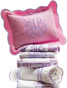 Leotine Linens | Pink and Lavender | Leotine Linens Fantasy Gift for Neiman Marcus