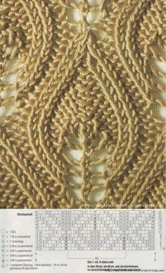 Knitting Stitches Leaf Beautiful Ideas Crochet motifs and patterns Nikola Sen Lace Knitting Stitches, Lace Knitting Patterns, Knitting Charts, Lace Patterns, Easy Knitting, Stitch Patterns, Knitting Machine, Loom Knitting, Crochet Pullover Pattern