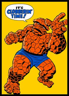 The Thing - Jack Kirbyesque by gwenboul, via Flickr