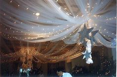 What an elegant idea for ceiling of reception hall.