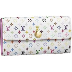VUITTON Louis Vuitton multi color fastener long wallet white / rich as well as a new wallet M93744