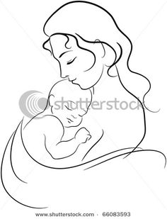 Simple Drawing Of Mother And Son Simple Illustration Of A Mother
