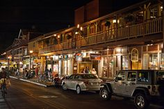 lahaina, maui - walking the street by the beach - shops restaurants, anything you need