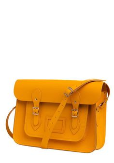 I love this sunshine-y satchel! One way to make things fun....