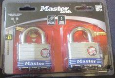 New 2 PK MASTER LOCK P17076 Large Padlocks-Same Key for Both #MasterLock
