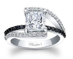 Barkev's Black Diamond Engagement Ring - 7935LBKW