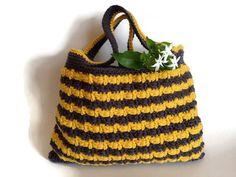 SALE  Grey yellow mustard tote free by LittleFlowerbyGloria