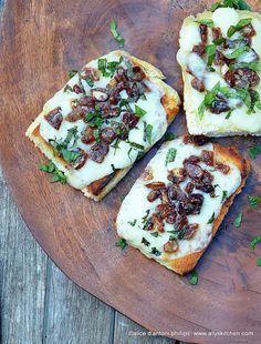 Asiago Cheese Dates & Mint Toasties by Ally's Kitchen