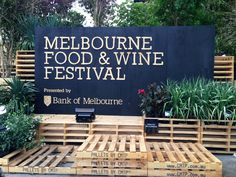 Beautiful painted wooden sign for #melbourne food and wine festival #MFWF