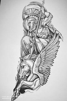 Forearm Sleeve Tattoos, Best Sleeve Tattoos, Tattoo Sleeve Designs, Tattoo Designs Men, Body Art Tattoos, Half Sleeve Tattoos Drawings, Zeus Tattoo, Warrior Tattoos, Viking Tattoos