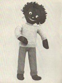 Golly vintage toy knitting pattern