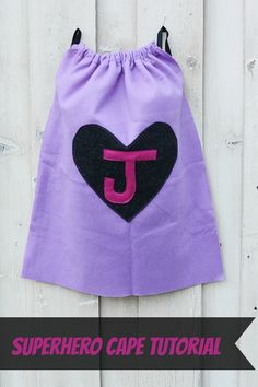 Superhero Cape Tutorial | One Hour Project - Made with elastic arm bands instead of a neck tie.
