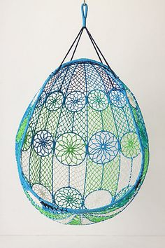 for the porch . . . or under a tree.   Knotted Melati Hanging Chair #anthropologie