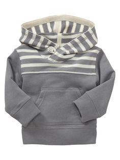 striped terry hoodie @ Gap
