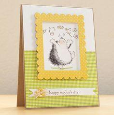 Hedgehog Mother's Day Card by Silke Shimazu - Cards and Paper Crafts at Splitcoaststampers