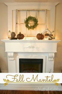 Fall Decorating Ideas for your Mantels!  Beautiful! DIY