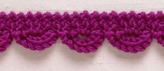 Knit Trim: Garter Stitch Loops swatch
