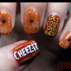 Cheez-It nails :D