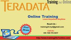 TERADATA ONLINE TRAINING AT Training24x7online  http://training24x7online.com/courses/data-warehouse/tera-data-online-training.html  REACH US : 91 7207743377 / training24.hyd@gmail.com  #TERADATA #OnlineTraining AT #Training24x7online. The scope of our training is to deliver good subjective knowledge for our students with efficient & dedicated trainers . To assess the #experience of practical knowledge on the #subject with #realtime #examples which is beneficial for the #student.