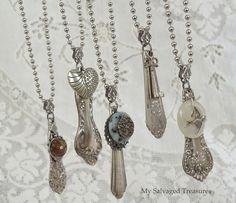 Silverware Handle Necklaces