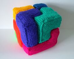 Ravelry: Soma Cube pattern by Woolly Thoughts, How fab it this!!!