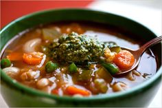 Soupe au Pistou in France, Zuppa al Pesto in Italy but whatever you call it, this soup is amazing!