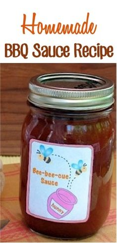Homemade BBQ Sauce Recipe! {perfect for your summer cookouts, or give some as a fun gift!} #bbq #sauce #recipes