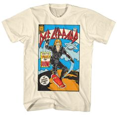 Def Leppard Comic Tee Shirt- I always wanted a shirt with this design.