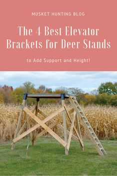 Do you need the best elevator brackets for deer stands? Then read on as I show you the four top choices to get you started and help you choose!
