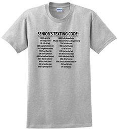 Senior Citizen Texting Code T-Shirt  Ash