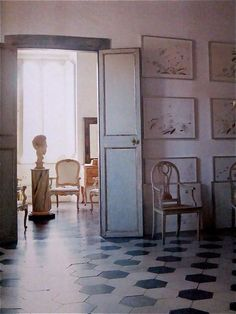 Cy Twombly's home in Rome, 1966, photographed by Horst P. Horst
