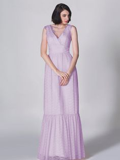 Pin to Win a Wedding Gown or 5 Bridesmaid Dresses! Simply pin your favorite dresses on www.forherandforhim.com to join the contest!   Ruffled Edge Lace Dress $249.99