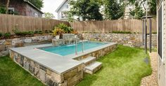 semi- inground pools - Google Search