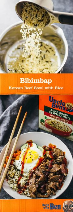 Recreate the traditional combination of pan-seared vegetables, steamed rice, marinated meat, a fried egg, and spicy sauce with this recipe for Bibimbap. In our opinion, this meal idea for a Korean Beef Bowl with UNCLE BEN'S® Long Grain & Wild Original Recipe is perfect for serving up on your dinner table and for packing as a delicious and fresh lunch. Simply grab these essential ingredients at Target and whip up this healthy dish.