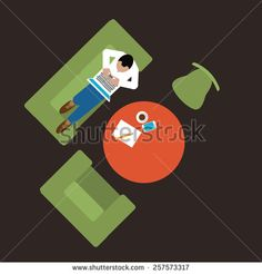 Person On Couch Stock Vectors & Vector Clip Art | Shutterstock